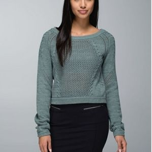"Lululemon "" Be Present"" Cropped knit sweater"